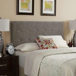 Humble + Haute Stratton Velvet Light Grey Tufted Upholstered Headboard (2 options available)