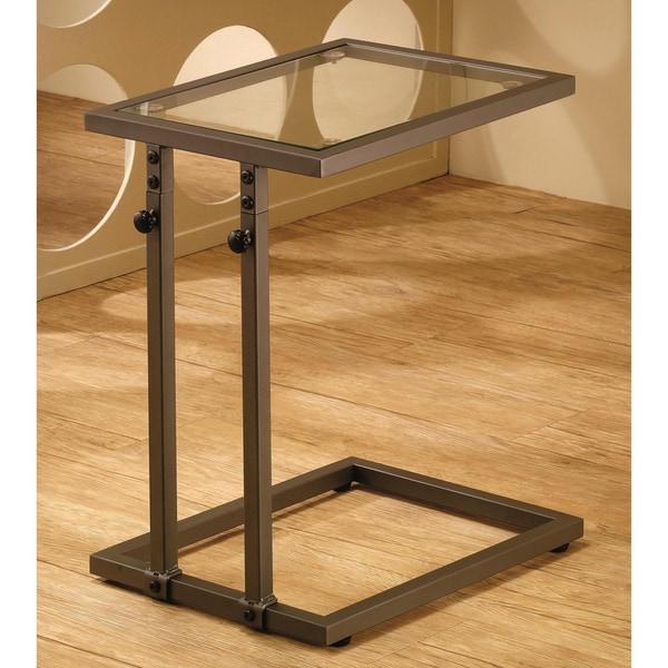 Shop Devash Adjustable Glass Top Accent Table Free