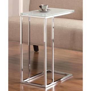 Link to Sleek Design Snack Table with Frosted Tempered Glass Top Similar Items in Living Room Furniture