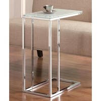 Frosted Tempered Glass Top Snack Table