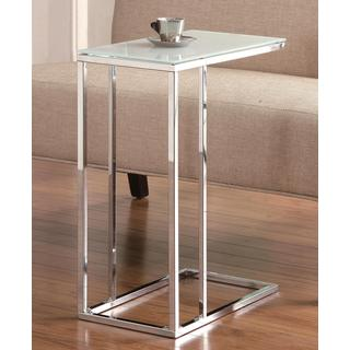 Sleek Design Snack Table with Frosted Tempered Glass Top