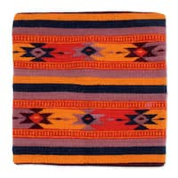 Handmade Wool Cotton 'Zapotec Stars' Cushion Cover (Mexico)