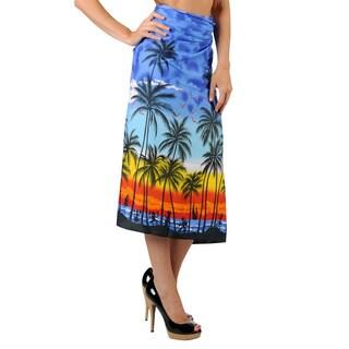 La Leela Super Soft Likre Seashore Site Bikini Sarong Wrap 72X42 Inch Royal Blue