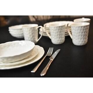 """Vanilla Marble Dinner Plates 10.25"""" (Set of 6)"""