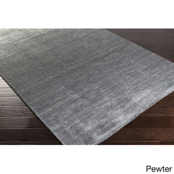 Hand-woven Dan Solid Viscose Area Rug - 2' x 3'