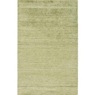 Hand-woven Dan Solid Viscose Rug (2' x 3')