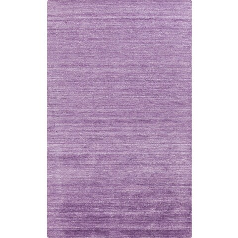 Hand-woven Solid Viscose Area Rug