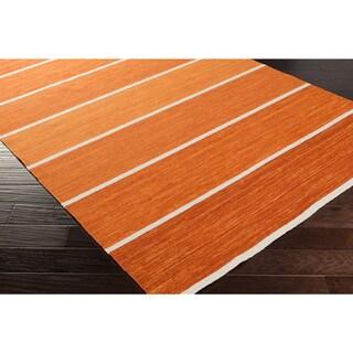 Hand-Woven Lyne Casual Wool Rug (8' x 11')