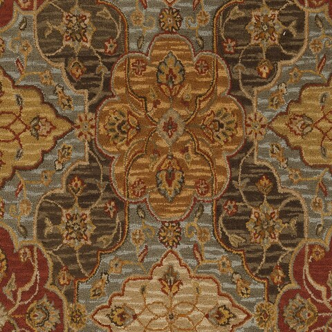 Copper Grove Little Cove Floral Wool Runner Rug