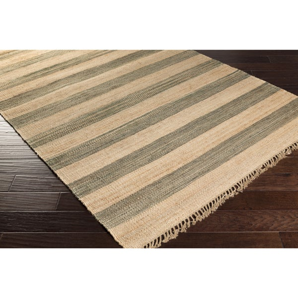 Hand-Woven Becky Casual Jute Area Rug
