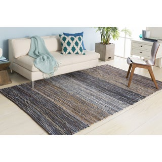 Handmade Justin Country Reversible Cotton Rug (5' x 8')