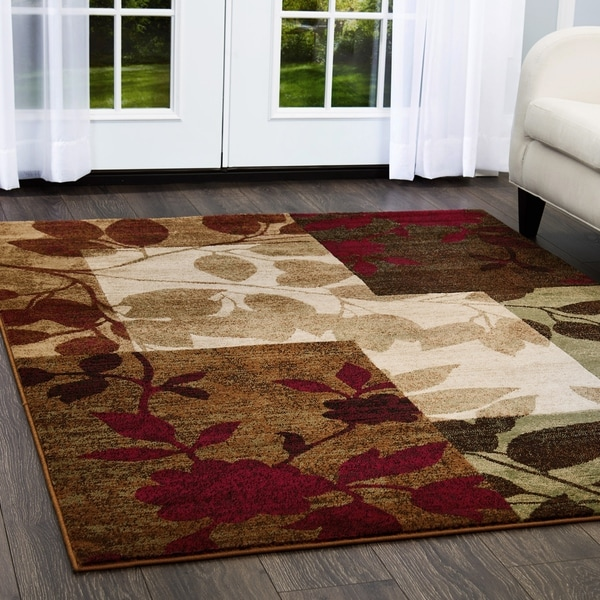 Home Dynamix Tribeca Collection Contemporary Multicolored Area Rug (7'10 X 10'6)