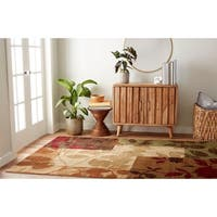 Home Dynamix Tribeca Collection Contemporary Multicolored Area Rug - 7'10 X 10'6