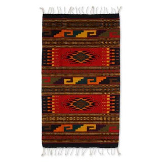 Handcrafted Zapotec Wool 'Our Traditions' Rug (2x3'5) (Mexico)
