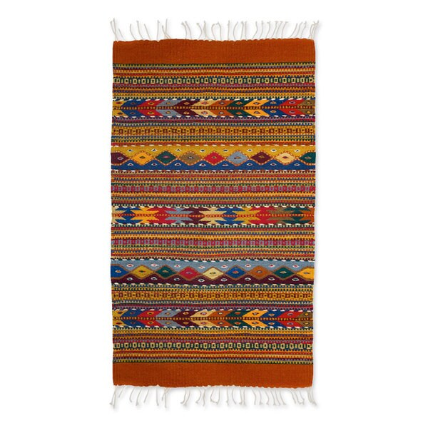 Vintage Mexican Zapotec Pictorial Rug At 1stdibs: Handcrafted Zapotec Wool 'Zapotec Fantasy' Rug (2x3