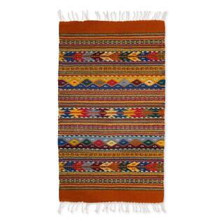 Handcrafted Zapotec Wool 'Zapotec Fantasy' Rug (2x3) (Mexico)