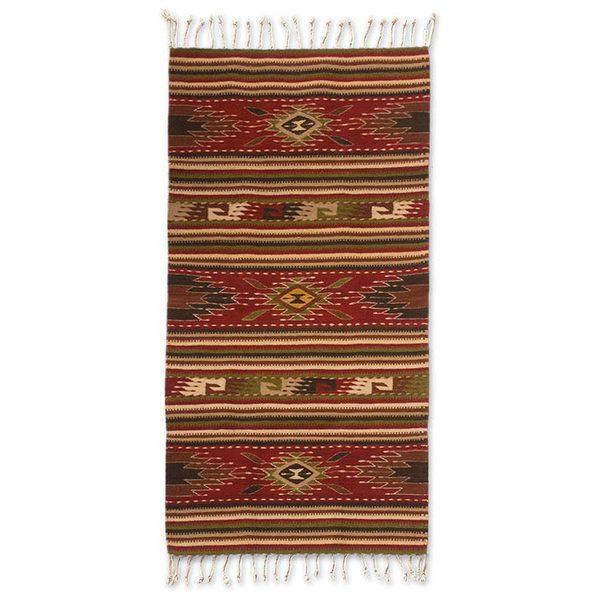Shop Handmade Zapotec Wool 'Blossoming Diamonds' Rug