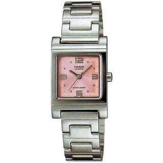 Casio Women's Core LTP1237D-4A Pink Stainless Steel Quartz Watch