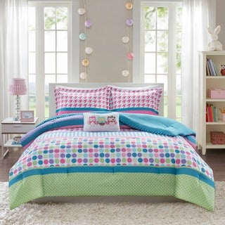 Mi Zone Jenny Aqua Mini Printed Comforter Set