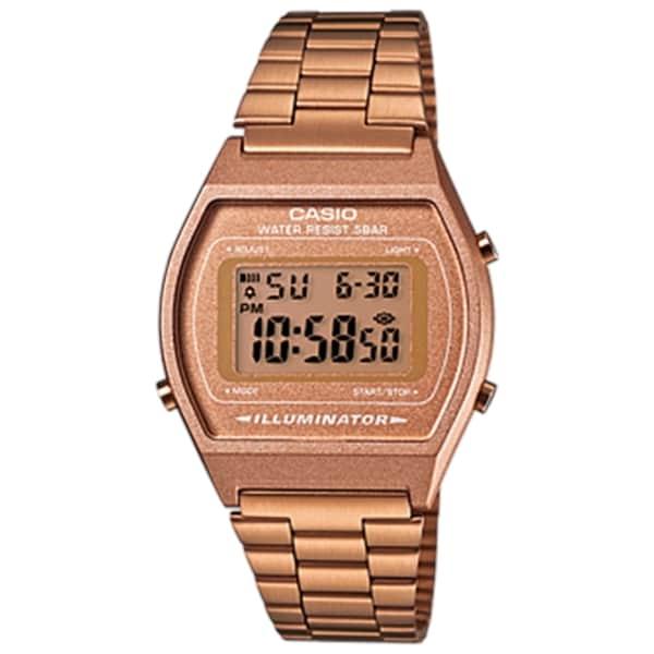 Casio Men's B640WC-5AEF 'Retro' Digital Bronze Stainless Steel Watch