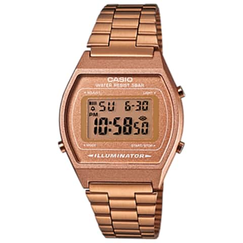 Casio Men's B640WC-5AEF 'Retro' Digital Bronze Stainless Steel Watch