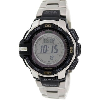 Casio Men's Protrek PRG270D-7 Silvertone Metal Quartz Watch