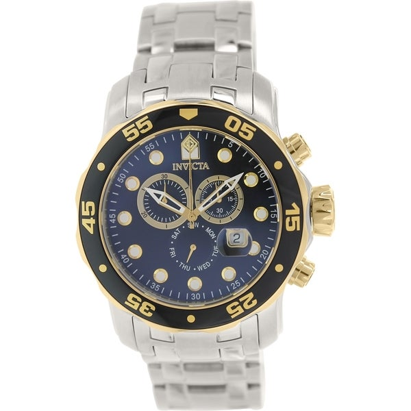 e7f9024fb Shop Invicta Men's Pro Diver Stainless Steel Swiss Chronograph Watch - Free  Shipping Today - Overstock.com - 9758490