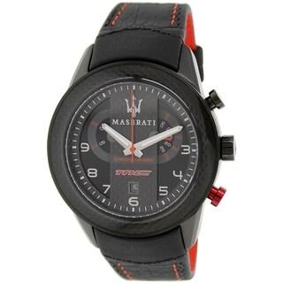 Maserati Men's Corsa R8871610004 Black Leather Analog Quartz Watch