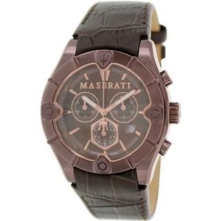 Maserati Men's Meccanica R8871611001 Bronze Leather Swiss Quartz Watch