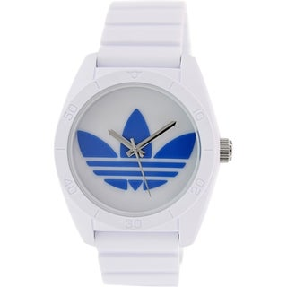 Adidas Men's Santiago White Silicone Quartz Watch