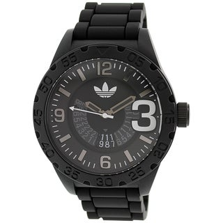 Adidas Men's Newburgh Black and Grey Rubber Quartz Watch
