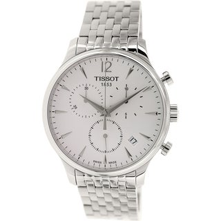 Tissot Men's Tradition T063.617.11.037.00 Silver Stainless-Steel Swiss Quartz Watch