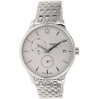 Tissot Men's Tradition T063.639.11.037.00 Silver Stainless-Steel Swiss Quartz Watch