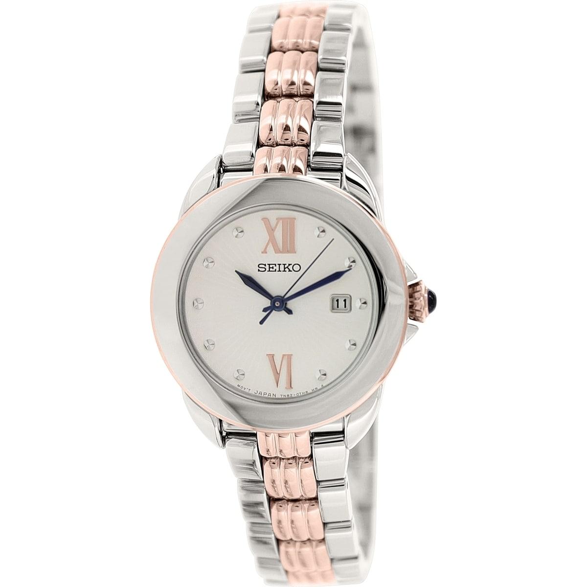 Seiko Women's SXDF62 Stainless Steel Quartz Watch (SXDF62...