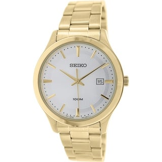 Seiko Men's SUR054 Gold Stainless Steel Quartz Watch