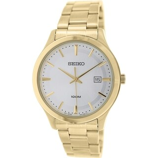 Seiko Men's SUR054 Gold Stainless Steel Quartz Watch
