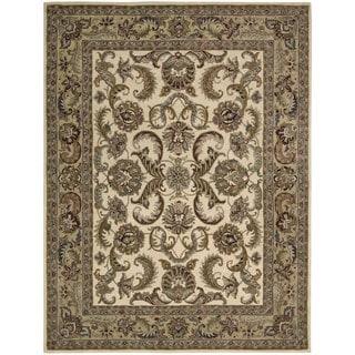 Nourison Ivory/ Gold India House Rug (3'6 x 5'6)