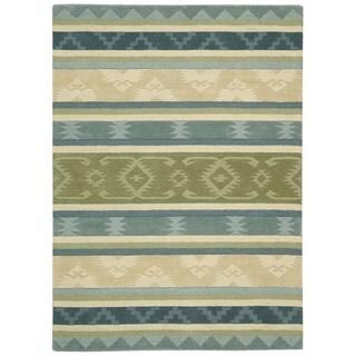 Nourison India House Blue/ Green Rug (5' x 8')