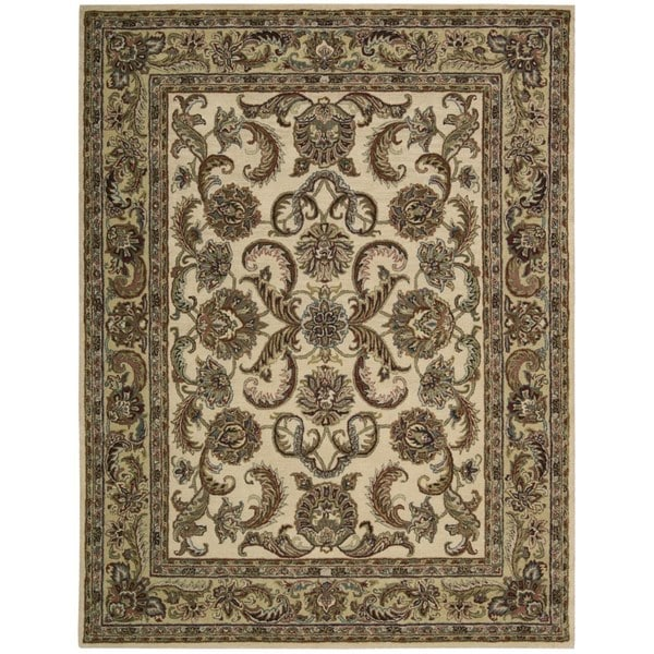 Nourison India House Ivory/ Gold Wool Rug