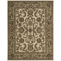 Nourison India House Ivory/ Gold Wool Rug - 8' x 10'6