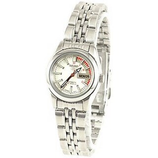 Seiko Women's 5 Automatic SYMA41K White Stainless Steel Automatic Watch