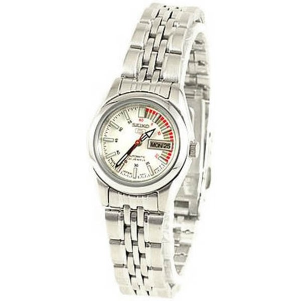 Seiko Women S 5 Automatic White Stainless Steel Automatic Watch