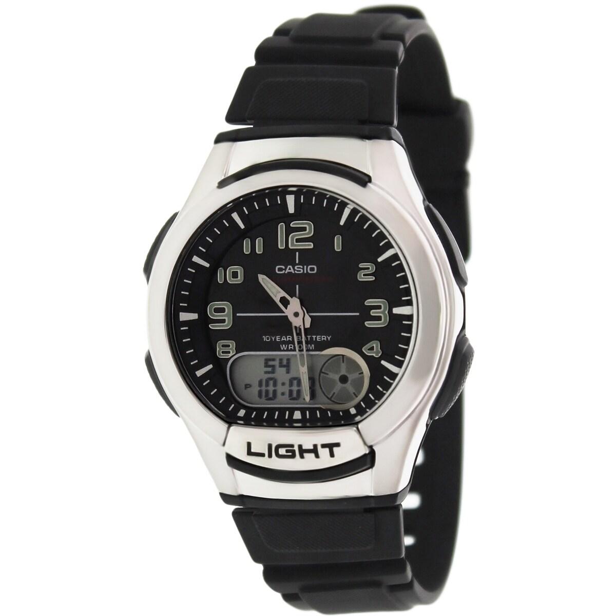 Casio Men's Core AQ180W-1BV Black Resin Quartz Watch (AQ1...