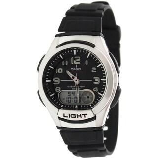 Casio Men's Core AQ180W-1BV Black Resin Quartz Watch