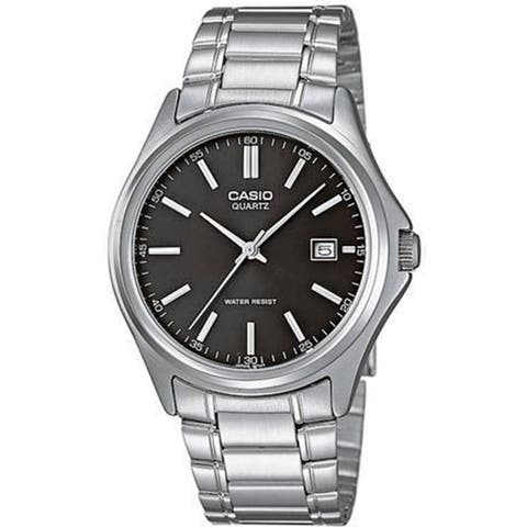 Casio Men's MTP-1183A-1A 'Classic' Stainless Steel Watch - black