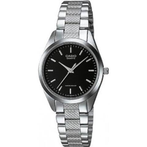 Casio Women's LTP-1274D-1A 'Classic' Stainless Steel Watch - Black