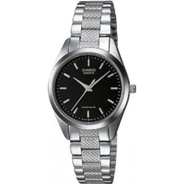 Casio Women's LTP-1274D-1A 'Classic' Stainless Steel Watch - Black. Opens flyout.
