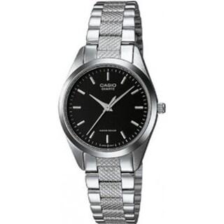 Casio Women's Core LTP1274D-1A Black Stainless Steel Quartz Watch