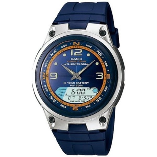 26b4fee763b Shop Casio Men s  Ana-Digi  Blue Resin Watch - Free Shipping Today -  Overstock - 9758848