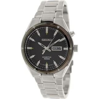 Seiko Men's SMY151 Silver Stainless-Steel Seiko Kinetic Watch